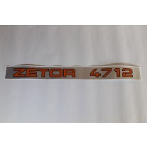 """Zetor - Schlepperbezeichnung """" ZETOR 4712 """"    4712-5301"""