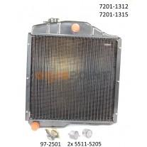 Zetor - Kühler - Wasserkühler + Zübehör 7201-1312  7201-1315  7201-1307 97-2501  5511-5205