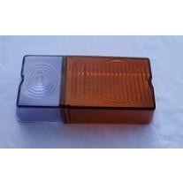 Zetor - Lichtscheibe - Deckglas - Blinklichtabdeckung - kleine Ausführung - links       93-1878