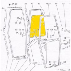 Zetor UR1 obere Türscheibe 60117961 Ersatzteile » Agrapoint